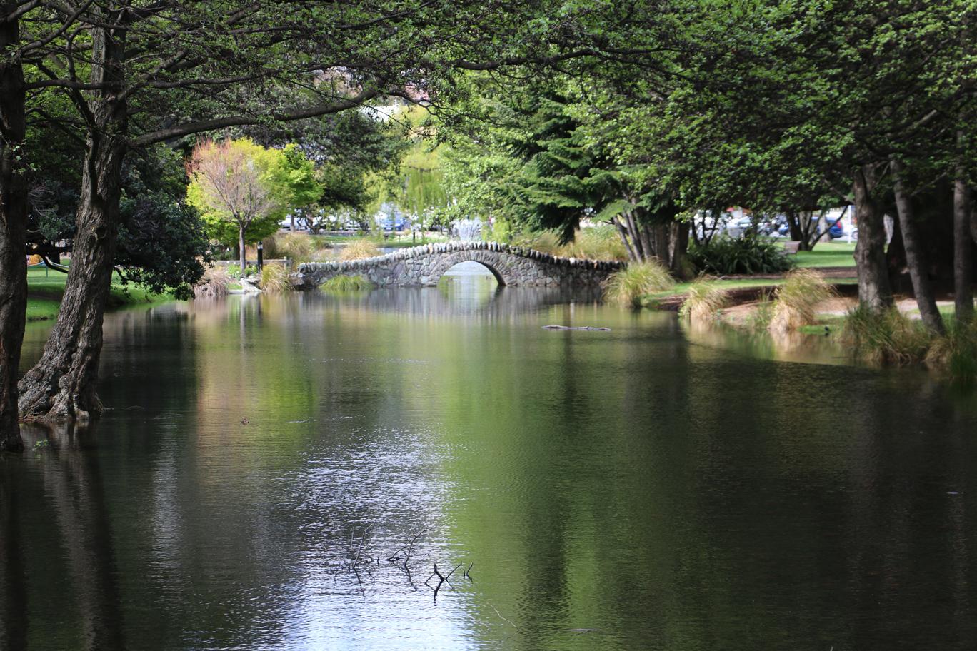 Les jardins de Queenstown... n'est-ce pas joli ?