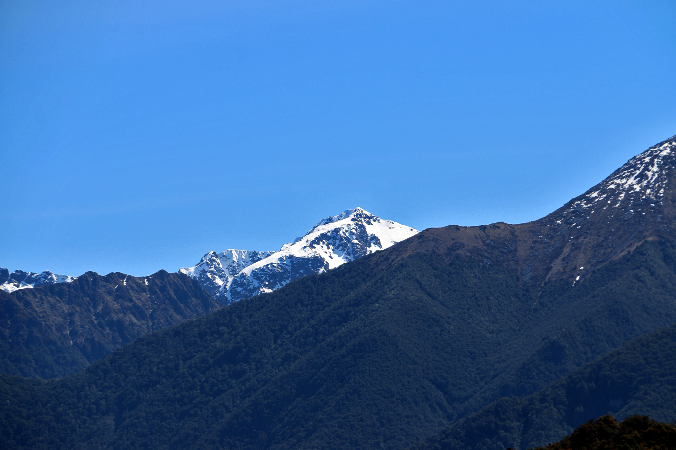 Les montagnes de Te Anau.