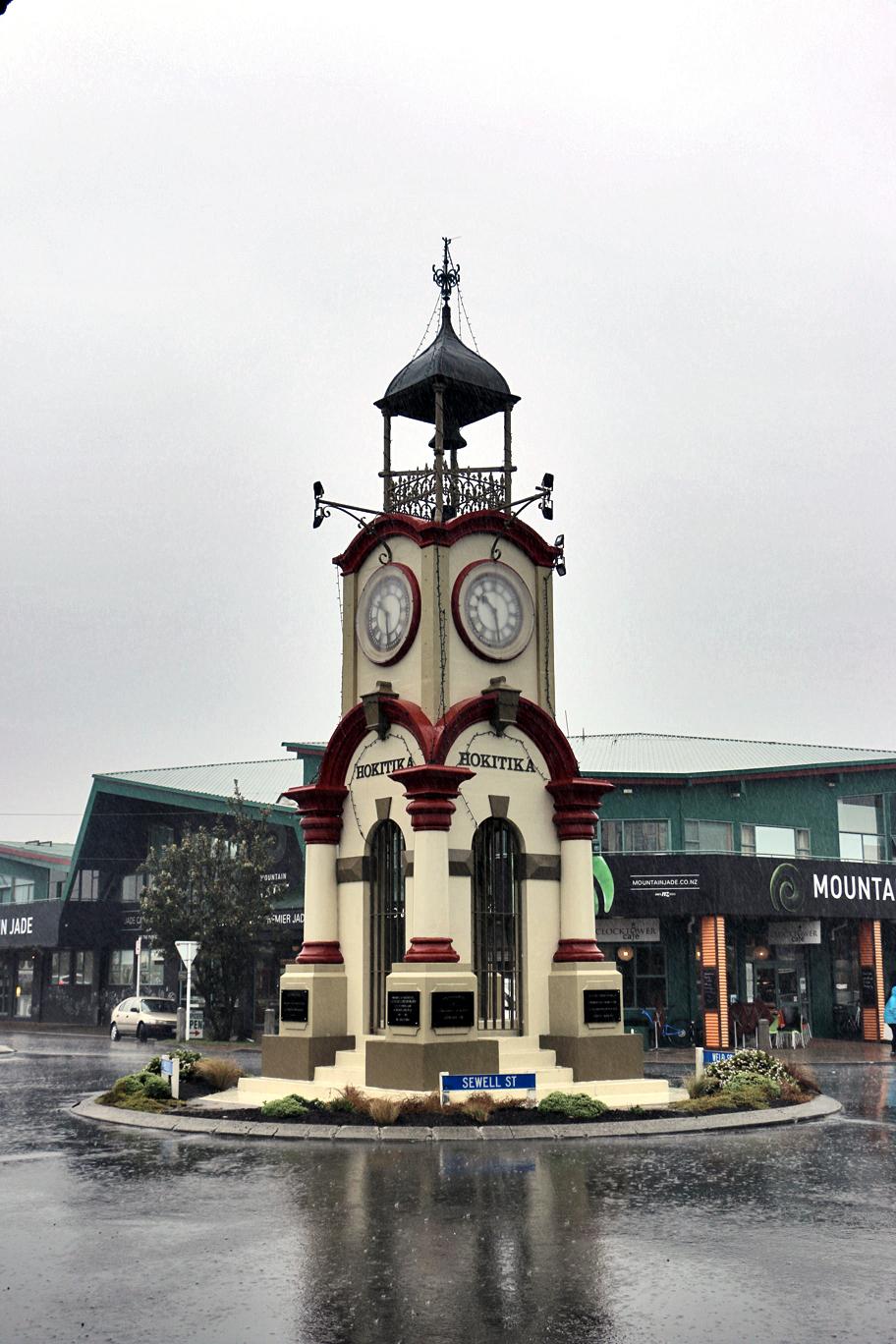 Le centre ville d'Hokitika.