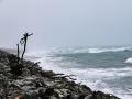 Le bord de mer d'Hokitika, tourmenté à souhait